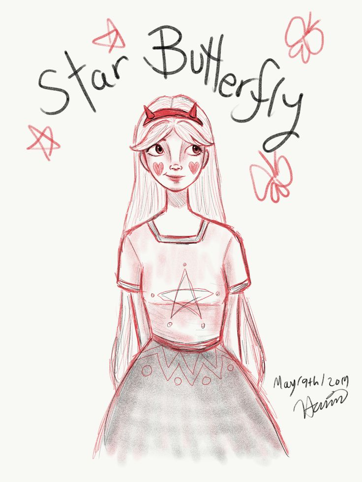 Star Butterfly from Star vs The Forces of Evil - illustration by Hamin Min