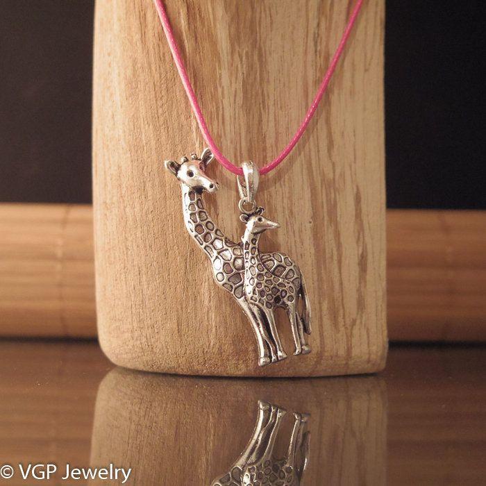 Grote Giraf Ketting: waxkoord ketting diverse kleuren
