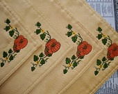 Pumpkin Embroidered Gold Placemats Set of 4