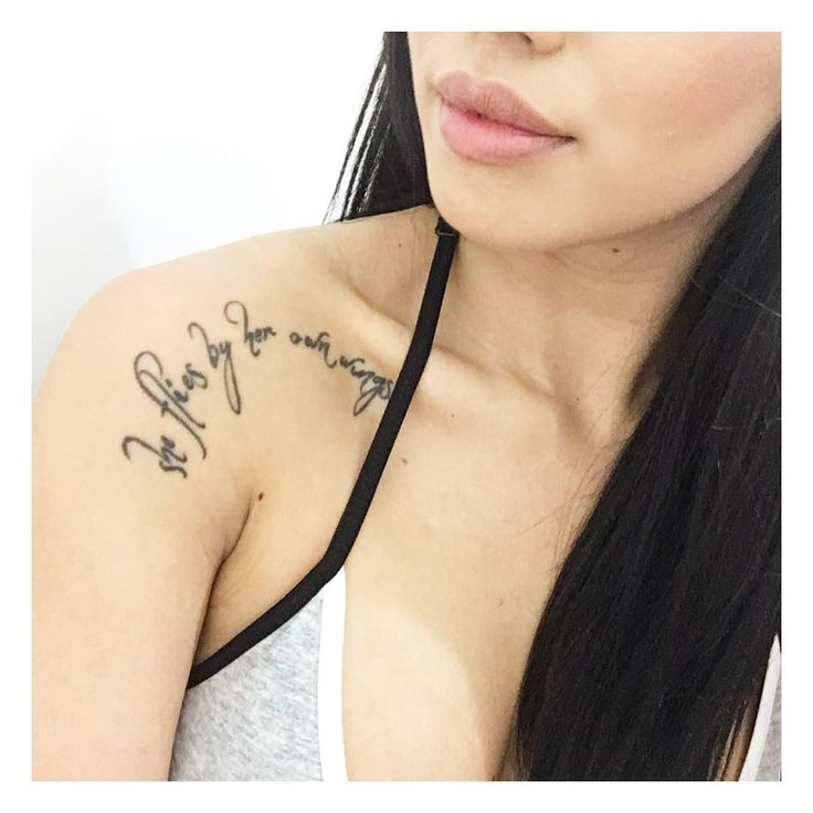 """""""She flies by her own wings."""" 