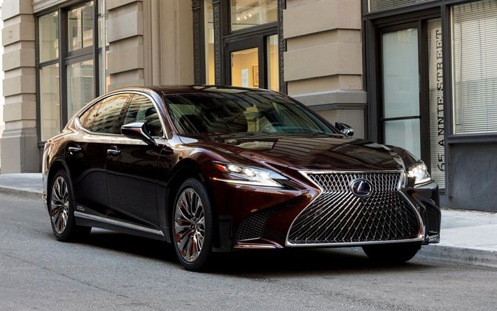 Wallpapers Lexus Ls 2018 Awd 500ls Business Cl Luxury Car Burgundy Anese Cars Besthqwallpapers