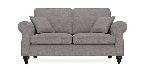 Buy Ashford Medium Sofa (3 Seats) Plush Chenille Mid Grey Low Turned - Dark from the Next UK online shop