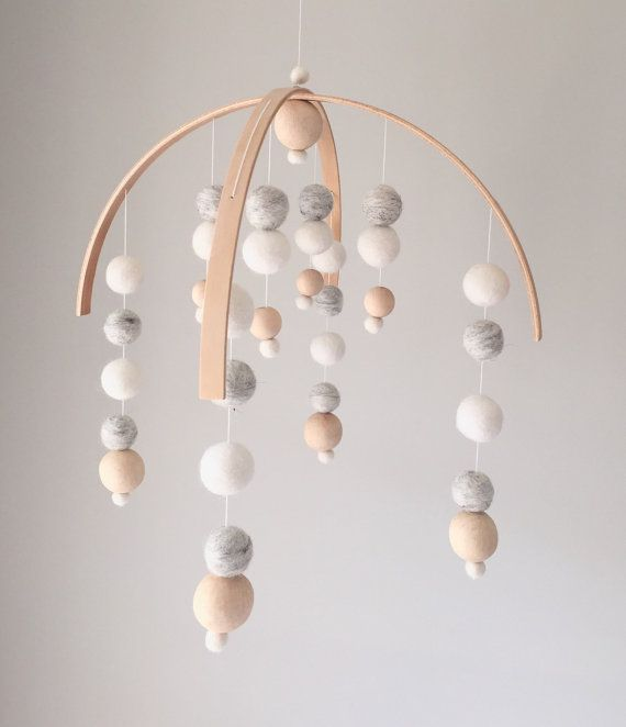 No. 2 Modern Neutral Baby Mobile by SproutlingCo on Etsy