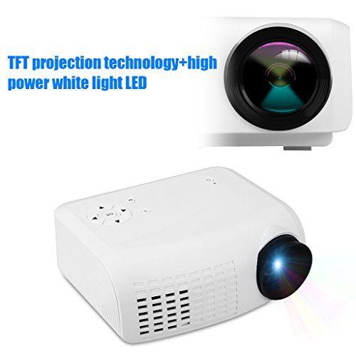 Excelvan E07 Mini Projecteur Vidéoprojecteur Multimédia LED LCD Résolution 640 * 480 Théâtre Portable Home Cinéma AV/USB/VGA/HDMI/TF-carte…