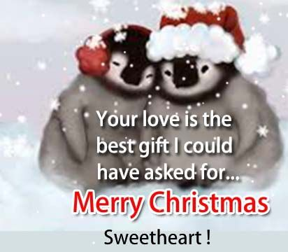 Merry Christmas Love Ecard For Your Sweetheart.