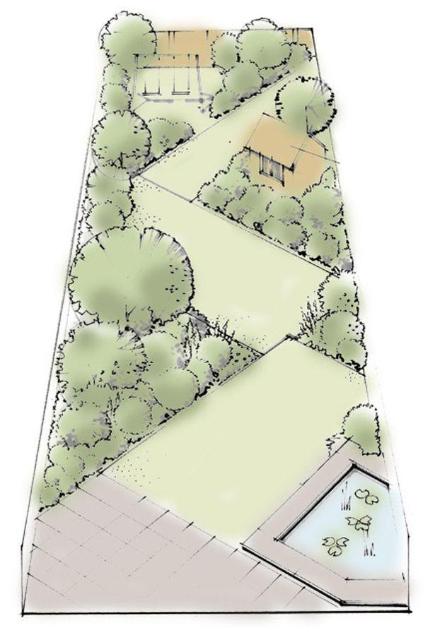 Verwenden Sie Rechtecke Um Ein Zickzackdiagramm Zu Erstellen Eine Reihe Von Erstellen Rec Garden Design Layout Small Garden Design Garden Design Plans