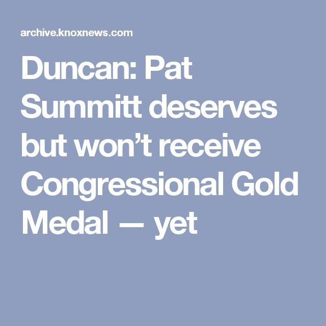Duncan: Pat Summitt deserves but won't receive Congressional Gold Medal — yet