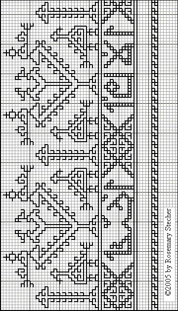 This type of pattern is also found in Greek island embroidery of the 17th and 18th centuries