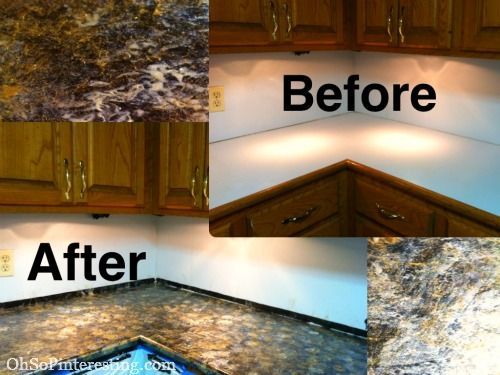Rustoleum Countertop Paint Earth : ... Less Than 24hrs with Pinterest Acrylics, Countertop paint and Tops