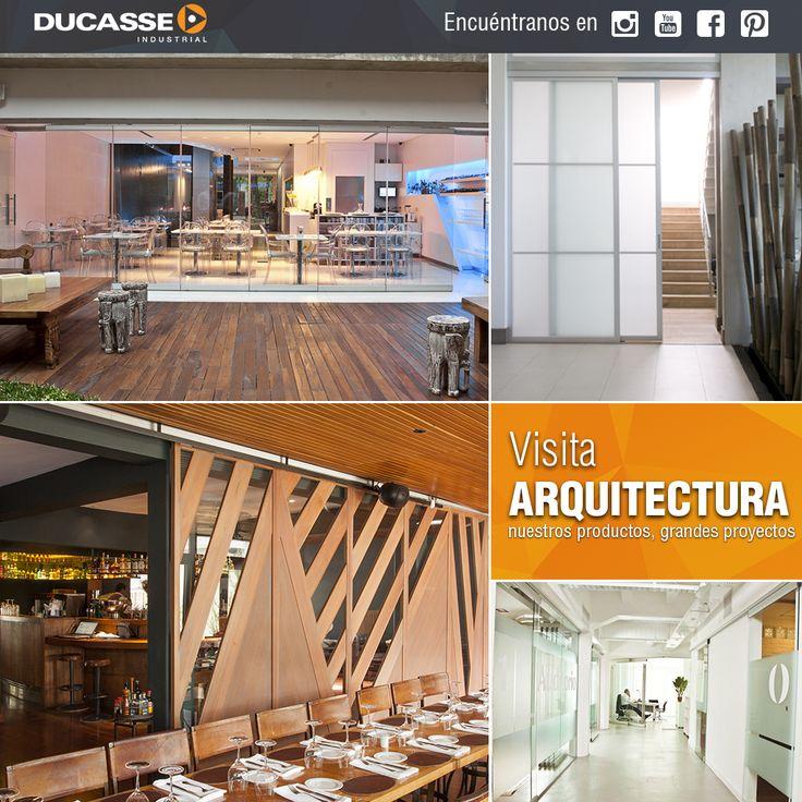 Conoce Arquitectura, nuestro portal de proyectos y soluciones. Visita, http://arquitectura.ducasseindustrial.com/ #arquitectura #construccion #vidrio #architecture #glass #