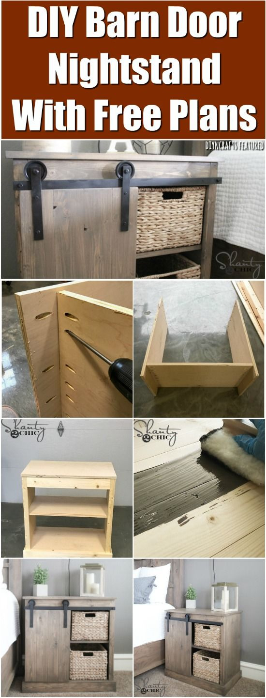 How to Make a Charmingly Rustic DIY Barn Door Nightstand {Free Plans} - DIYnCrafts Woodworking. via @vanessacrafting