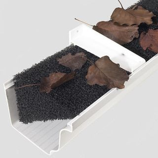 Rain Gutter Foam 32 Linear Feet Gutter Guard Synthetic
