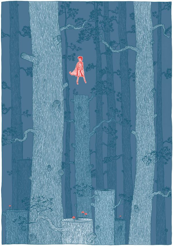 Something in the forest by Gerhard Human , via Behance
