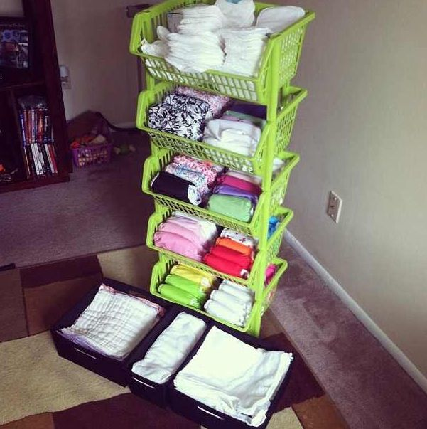 Cloth Diaper Storage Gt Gt She Used Bins From The Container Store Baby E Pinterest Storage