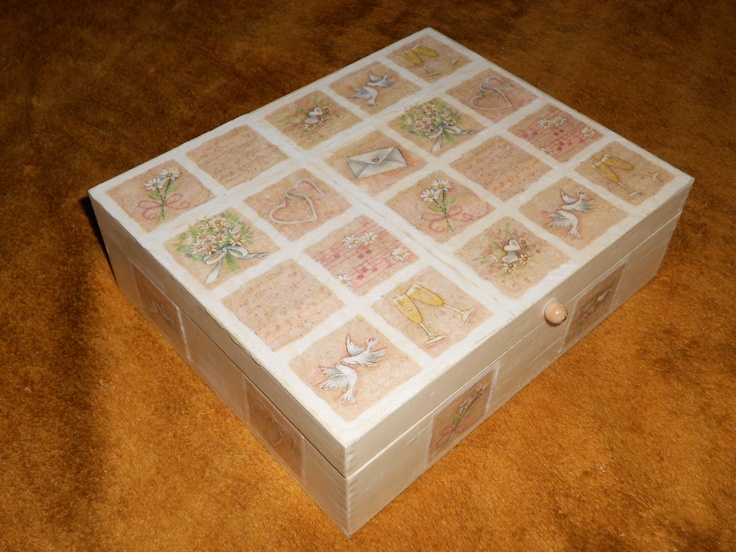 Wedding gift2 - box with decoupage technique