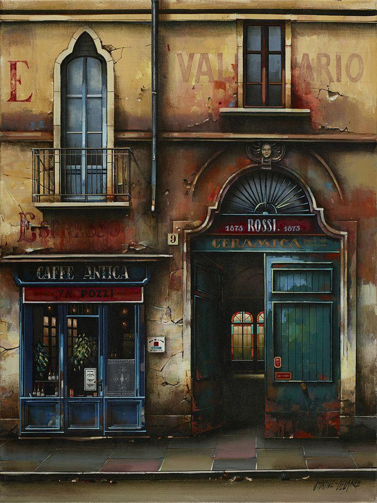 "Jan Stokfisz Delarue, ""Cafe Antica"", year: 2012, 60 cm x 45 cm"
