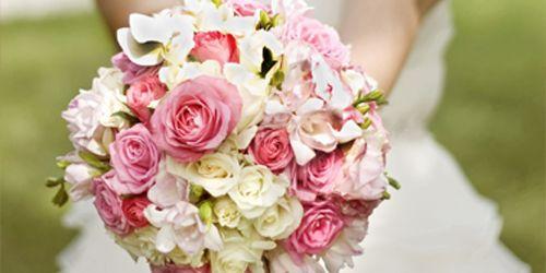 Hochzeitsfarbkombination Grün-Rosa-Weiß