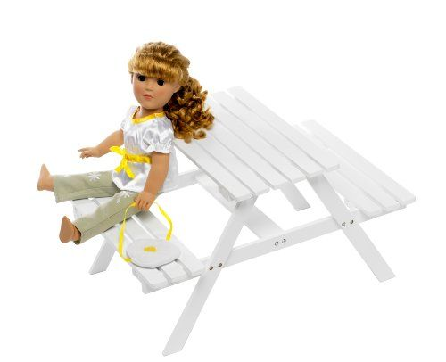 Adirondack Picnic Table Fits American Girl Dolls « Game Time Home