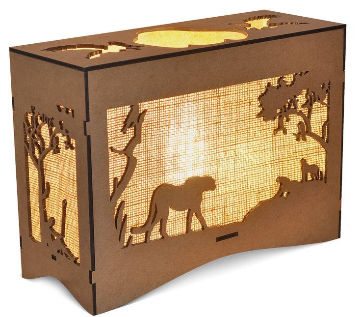 Animal Bush Scene Lamps created in SA, Rhinocerous, Lion, Cheetah, Giraffe, Elephant.