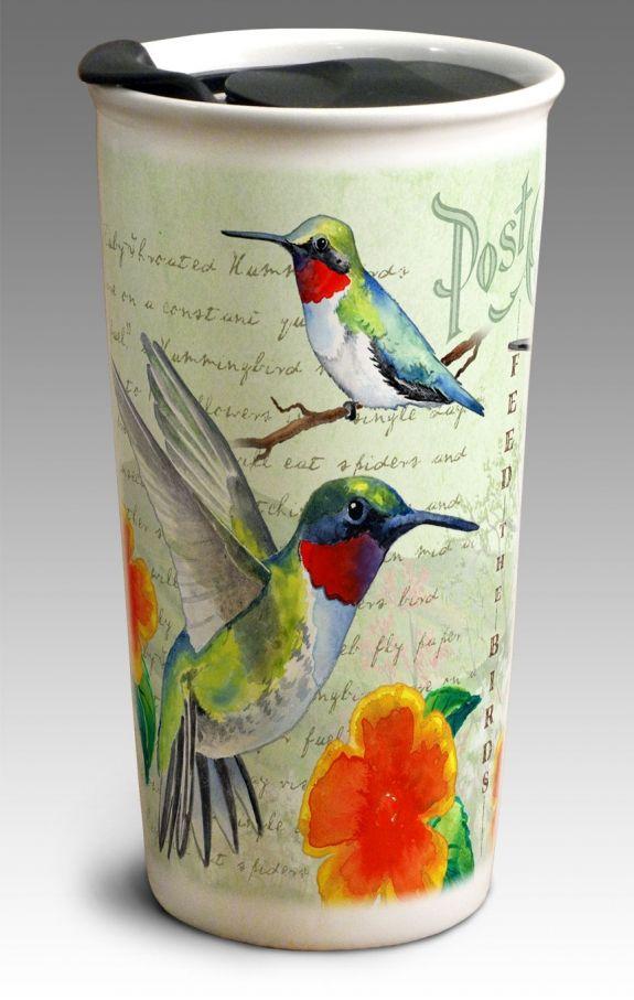 Hummingbird Vintage Bird Series 12oz Double Wall Insulated