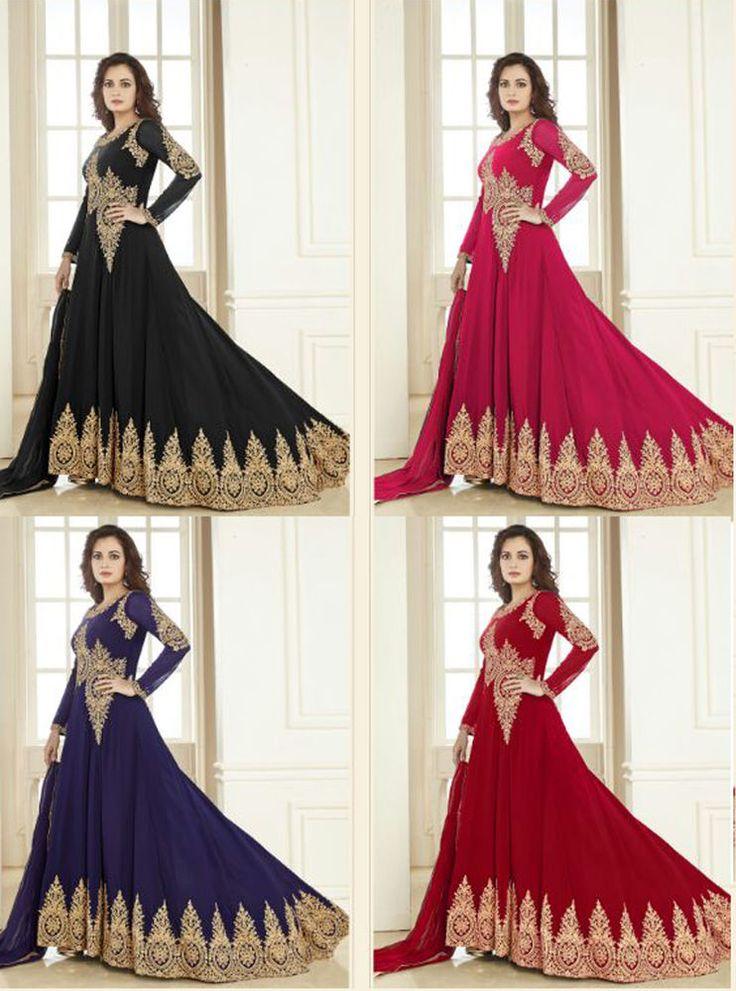 Wedding wear punjabi frock suit churidar dress indian pakistani salwar kameez #Handmade #Anarkali