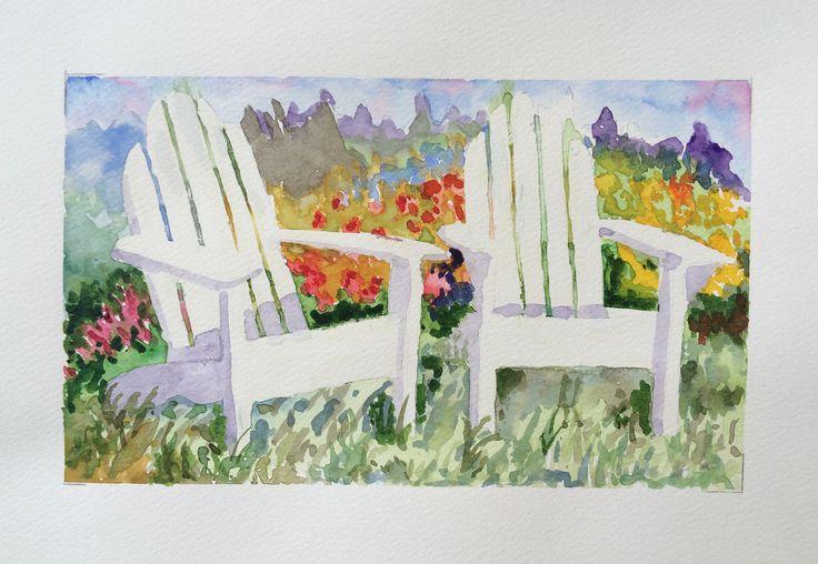 Été, aquarelle par Annie Collette