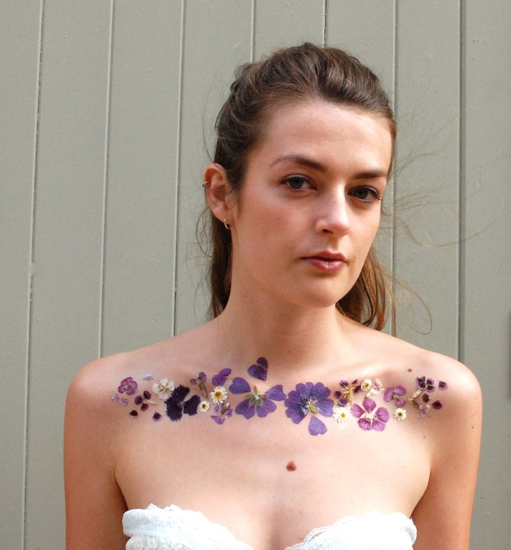 Temporary floral tattoo that looks realistic, inspired by Verity Cumming's art on the cover of Oh Comely.