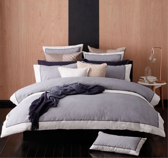 Essex Quilt Cover Set Range Navy | Manchester Warehouse