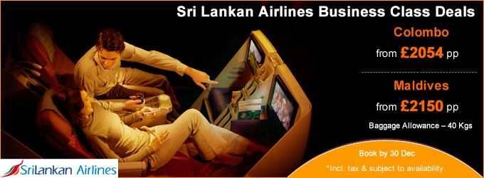 #Luxury #Travel: #SriLankan #Airlines Business Class special offer to #Colombo and #Maldives! Hurry - limited seats are left.