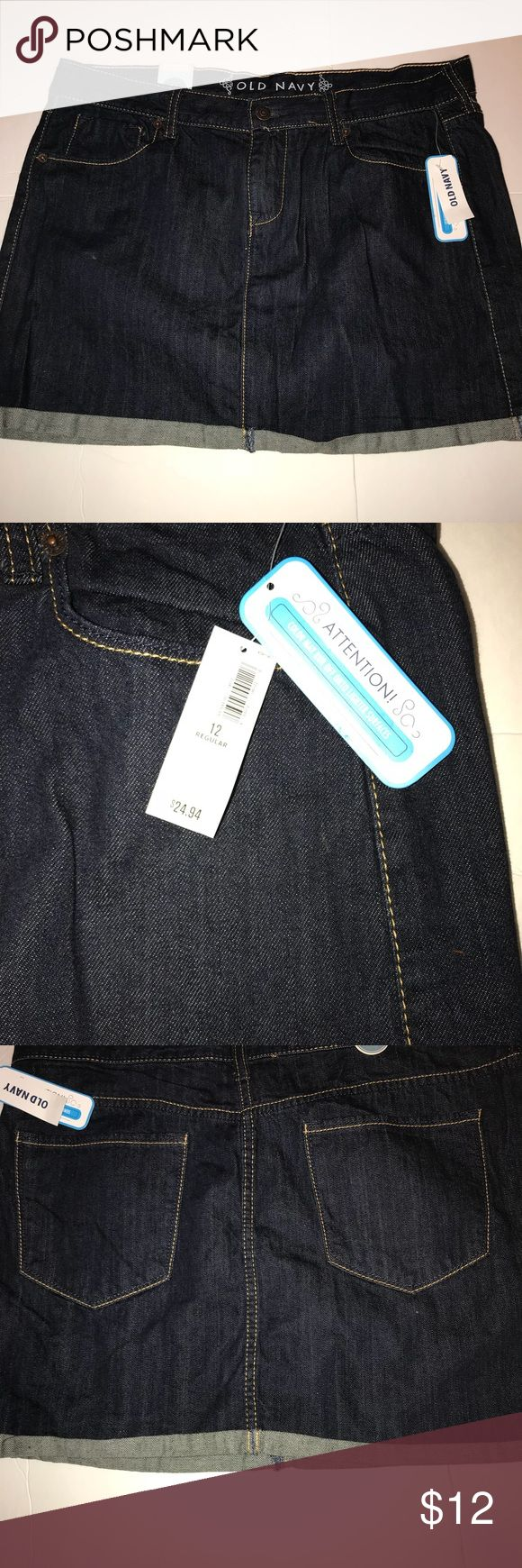 New Old Navy Short Jean Skirt SIZE 12. New Old Navy Short Jean Skirt Misses SIZE 12. Old Navy Skirts Mini