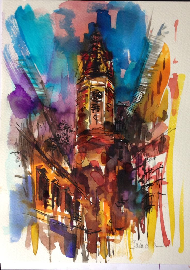 watercolor ink Konrad Biro art