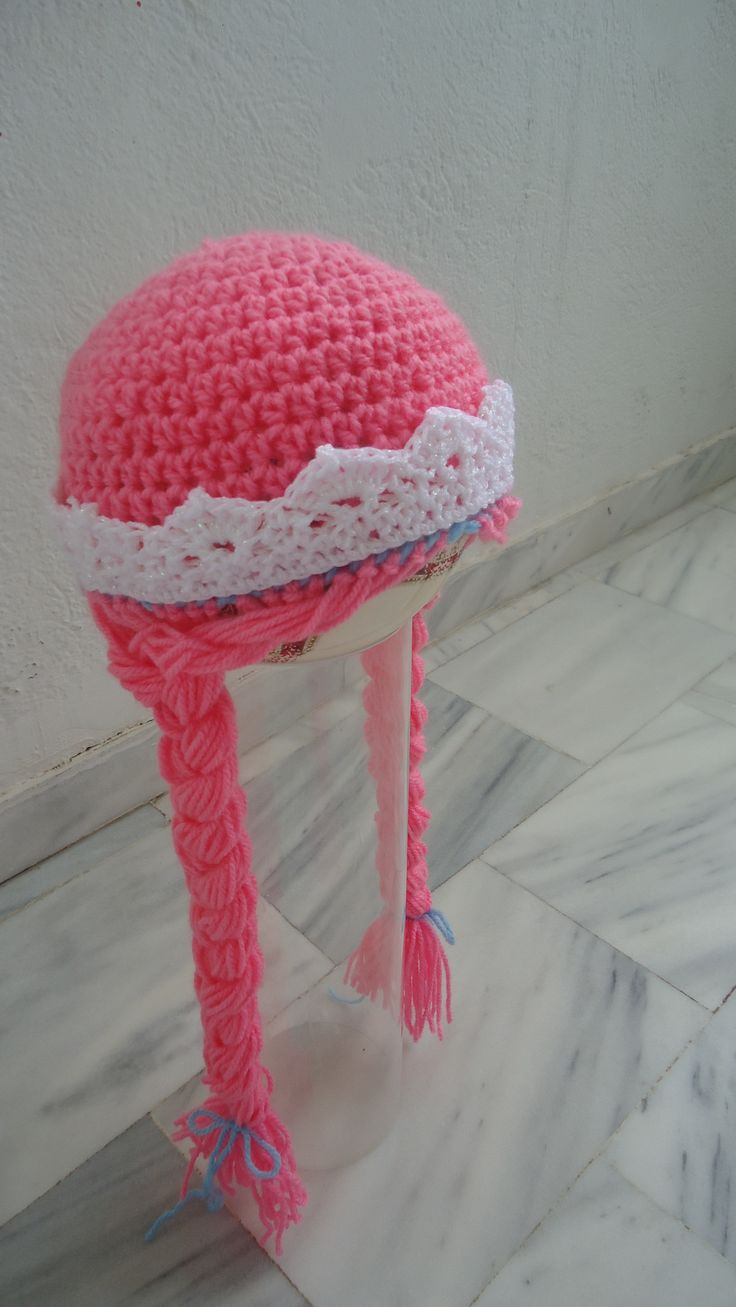 handmade crochet princess beanie with crown made to order facebook/toucanbeanies