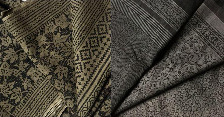 Organic dyed sarees