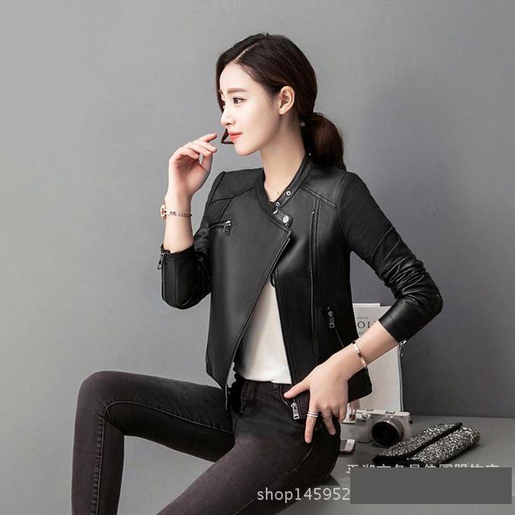 New Women's Leather Jacket Red PU Blazer Zippers Coat Leather jackets for Women Slim chaqueta cuero mujer veste en cuir femme