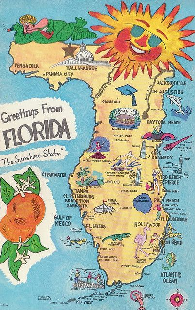 vintage florida back when Orlando was a little tiny town barely on the map!--I was born in Florida!