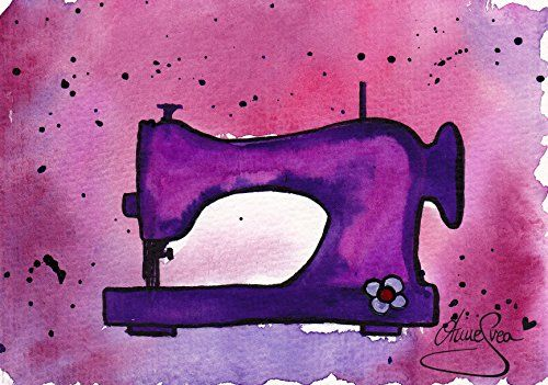 Nähen Postkarten 2 Stück A6 lila Aquarell Druck Nähmaschine AnneSvea Sewing Handmade Deko AnneSvea http://www.amazon.de/dp/B01C0AQRRM/ref=cm_sw_r_pi_dp_UqgYwb118PAQ1