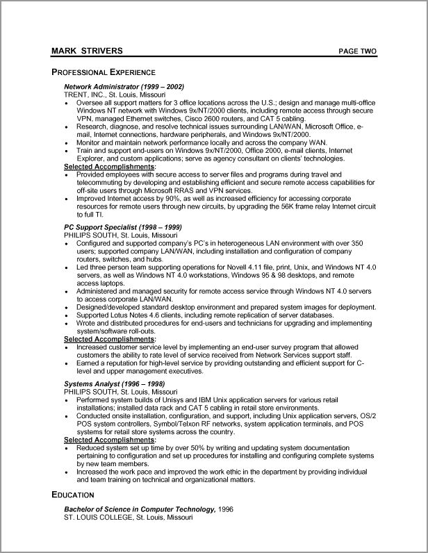 The Best Chronological Resume Template Ideas On Pinterest - Chronological resume format