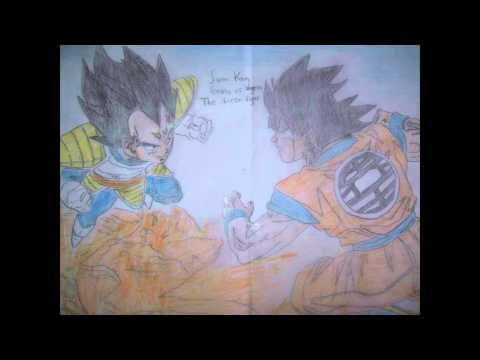 DRAGONBALL Z THE GLORIOUS DAYS EPISODE 1 GOKU VS VEGETA THE FIRST FIGHT ...