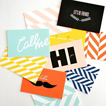 Fun idea to bring back calling cards. It's like a business card but for friendly acquaintance.