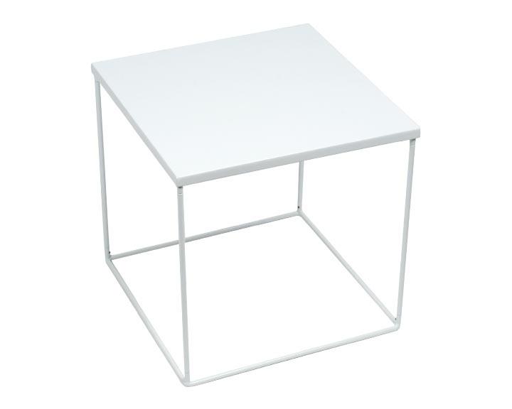 Table de chevet - KUBE - Blanc via madura.fr