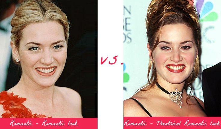 Kate Winslet - Romantic look vs. Theatrical Romantic look. Typ urody Romantic – seksbomba