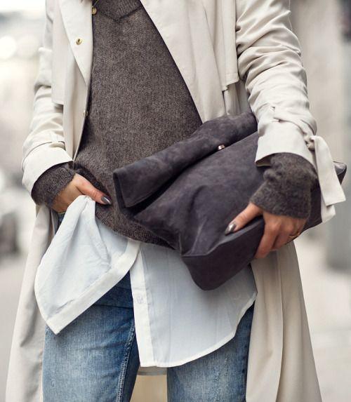 Rolled clutch bag ❤