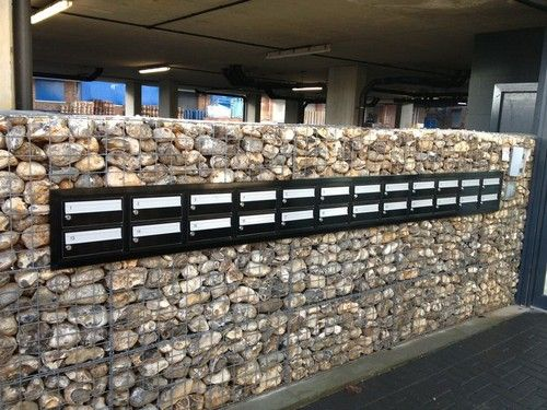 Low Cost gabion letterbox stone wall Cheaper than block stone gabion walls are easy to build