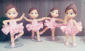 Bailarinas em biscuit
