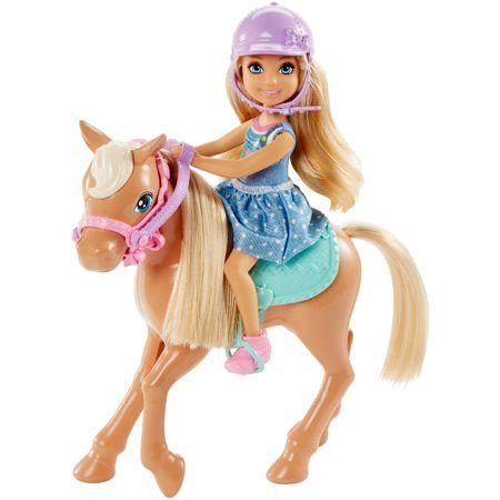 Barbie Club Chelsea Doll with Pony & Accessories Playset - Walmart.com