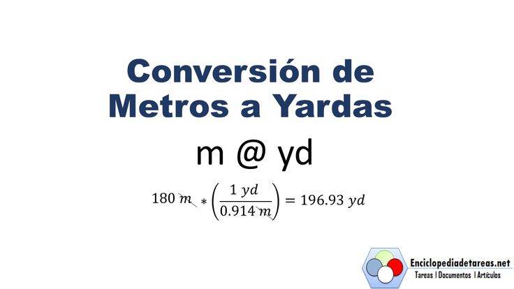 Conversión de Metros a Yardas