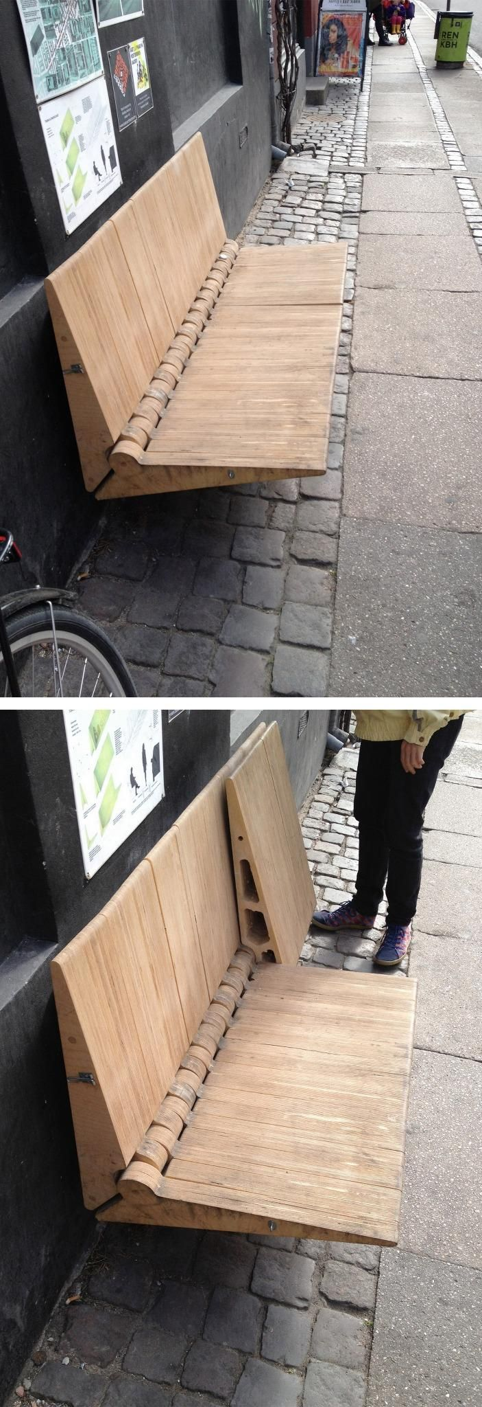 Bancas Públicas Plegables. Dinamarca/Copenhague