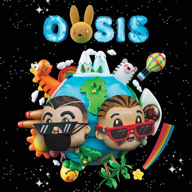 La Cancion A Song By J Balvin Bad Bunny On Spotify Oasis Album Bunny Poster Album Covers