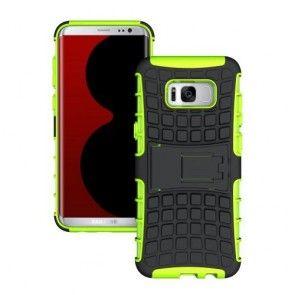 Husa Samsung Galaxy S8 Plus G955, Carcasa Protectie, Kickstand, Culoare Verde