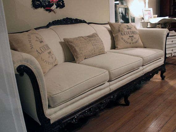 I have a sofa just like this that I am going to recover and shabby chic! Just looking for the fabric now!